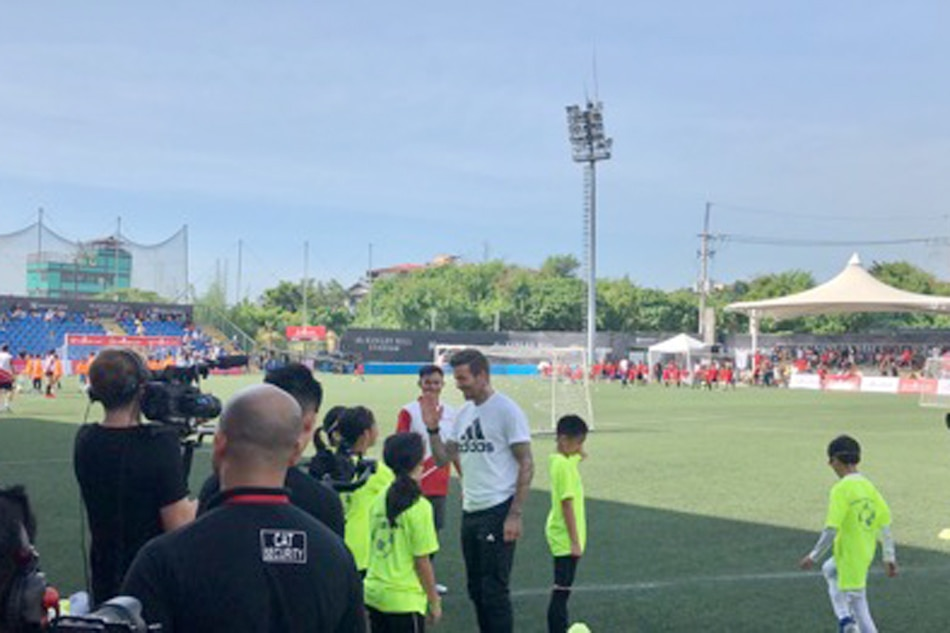 David Beckham bats for health and wellness during his visit in Manila