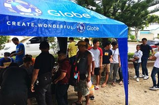 Globe Telecom sets up call, charging stations in quake-hit areas in Mindanao