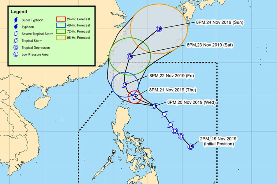 Tropical storm Sarah intensifies, moves closer to Batanes 1