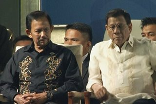 Brunei's Sultan Bolkiah joins Duterte at SEA Games opening