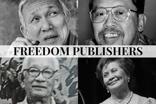 Martial law and 4 'freedom publishers': Roces, Burgos, et al
