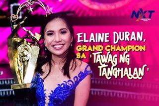 Elaine Duran, grand champion sa 'Tawag ng Tanghalan'