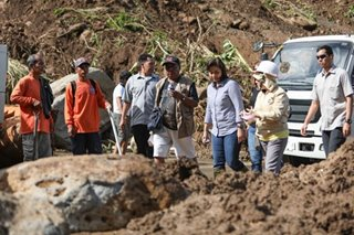 VP Leni visits landslide-hit area in Camarines Sur