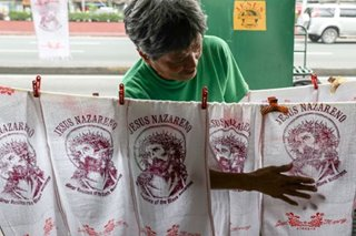 Black Nazarene towels