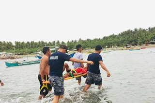 Father, son rescued after sea accident