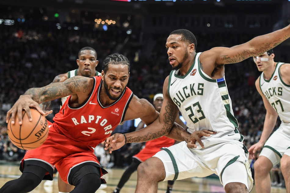Image result for kawhi leonard raptors vs bucks usa today
