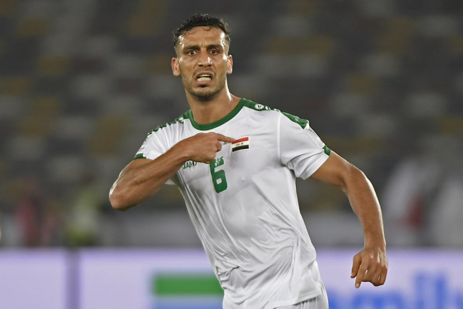 5b32ba3b2 Iraq s defender Ali Adnan celebrates after scoring a goal during the 2019  AFC Asian Cup group D football match between Iraq and Vietnam at Zayed  Sports City ...