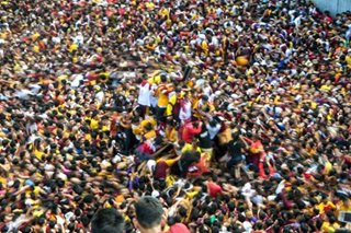 View from the top: Black Nazarene procession