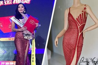 LOOK: PH's newest pageant winner also wore a 'patriotic' gown