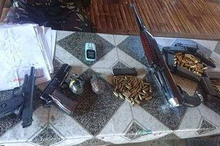 Armas at eksplosibo nasamsam sa checkpoint, 5 tiklo