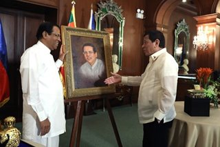 Duterte welcomes Sri Lanka President Sirisena