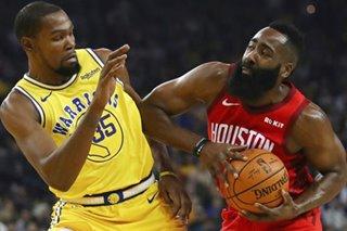 Harden, Durant trail in NBA All-Star fan balloting