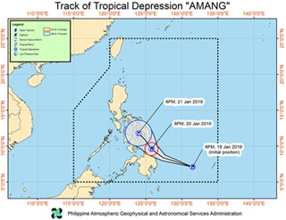 6 provinces under Signal no.1, as tropical depression Amang nears