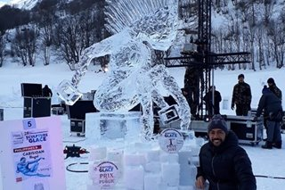 Pinoy wins int'l ice carving contest in France