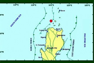 Magnitude-5.5 quake strikes off Cagayan