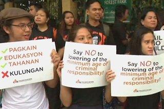 Child rights advocates hold protest outside Senate