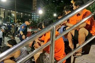Halos 60 timbog sa magdamag na anti-crime ops sa Makati
