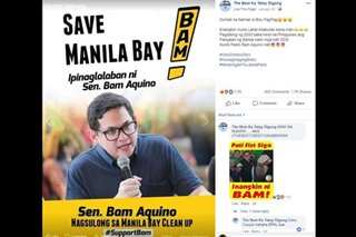 FACT CHECK: No, this campaign material does not show an opposition senator taking credit for a Manila Bay cleanup