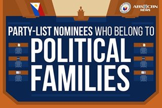INFOGRAPHIC: Party-list nominees who belong to political families