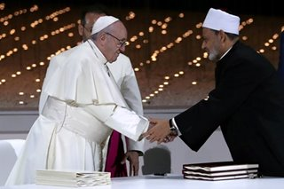 Pope Francis, top Muslim cleric in joint call for freedom of belief