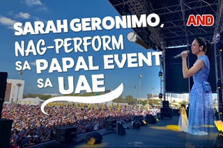 Sarah Geronimo, nag-perform sa Papal event sa UAE