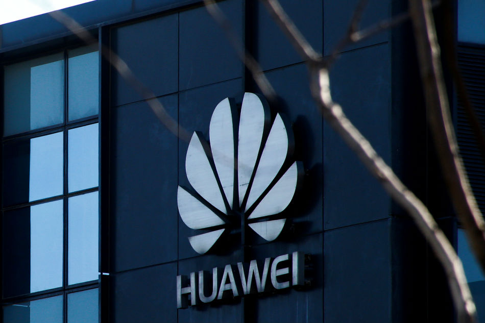 Company logo at the office of Huawei in Beijing. Thomas Peter Reuters  File