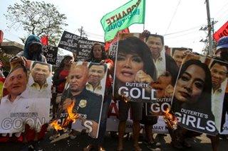 Workers reject Duterte's 'guns, goons, gold, girls'