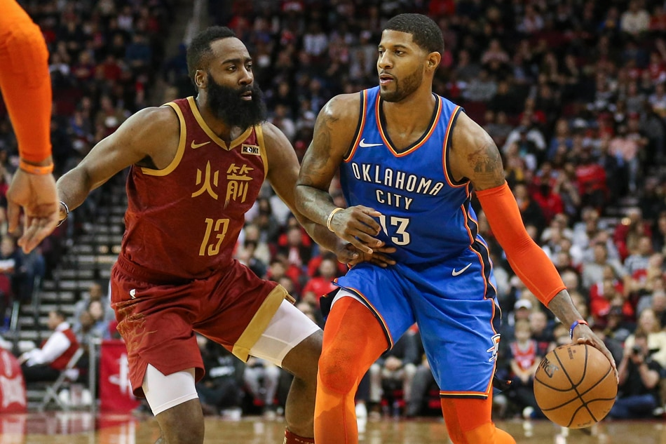 finest selection ddbf7 6ac7b NBA: George's 45 tops Harden's 42 as Thunder eke out win ...