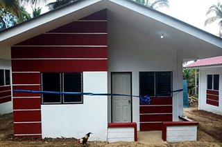 Former Abu Sayyaf fighters get housing in Basilan