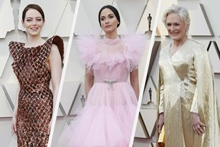 Red, pink and Oscar gold take a twirl in tulle down red carpet