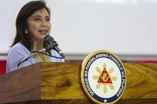 Entertainment OK in campaign, but substance should matter more - Leni Robredo