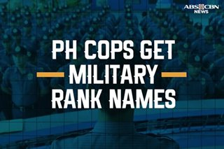 INFOGRAPHIC: How PH police officers should now be called