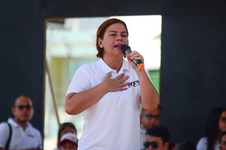Sara won't run for president, says Duterte