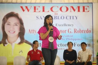 That's illegal: Robredo says of alleged wiretapping of politicians with drug links