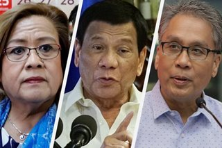 Duterte slurs vs Otso Diretso 'a good sign' - De Lima