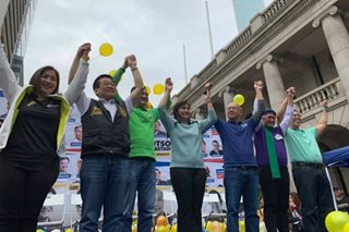 Robredo touts South China Sea arbitral win in Otso Diretso HK rally