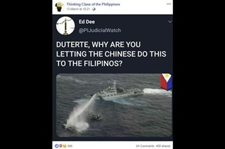 FACT CHECK: No, this photo does not show a Chinese ship attacking Philippine vessels