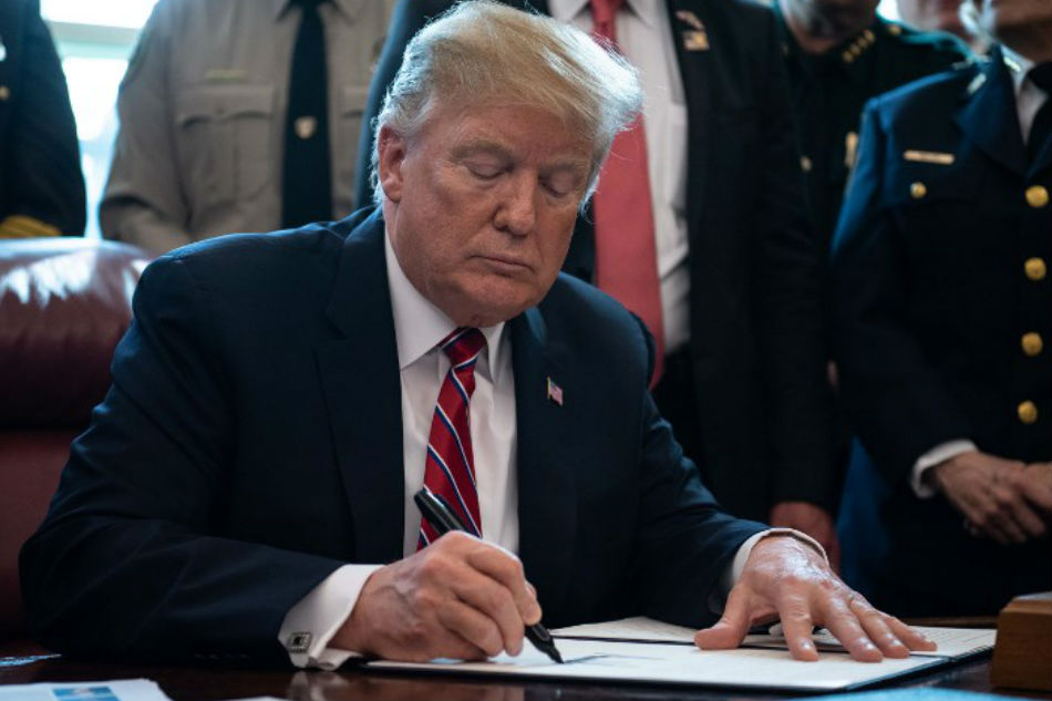 Trump issues first veto after rebuke of border order
