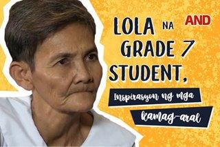 Lola na grade 7 student, inspirasyon ng mga kamag-aral