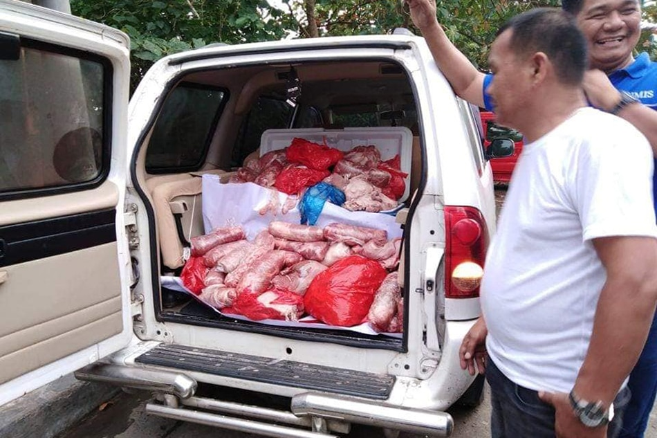500 kilo ng 'hot meat' nasabat sa Davao City