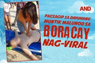 Pagsagip sa dayuhang muntik malunod sa Boracay, nag-viral