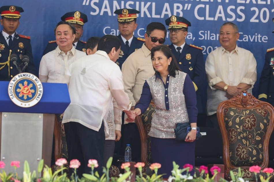 Duterte and Robredo at PNPA graduation rites