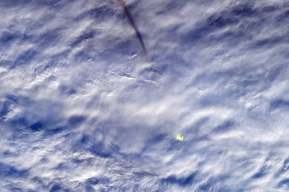 Massive Meteorite Explosion Over The Bering Sea Captured On Camera by NASA