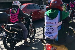 SLIDESHOW: Thousands of riders across PH protest 'doble plaka' law