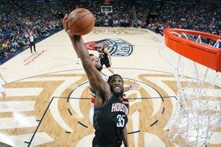 NBA: Rockets build big lead, coast to win over Pelicans