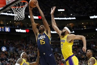 NBA: Jazz cruise past Lakers, tie for 5th in West