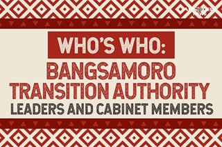 Who's who: Bangsamoro Transition Authority leaders and Cabinet members