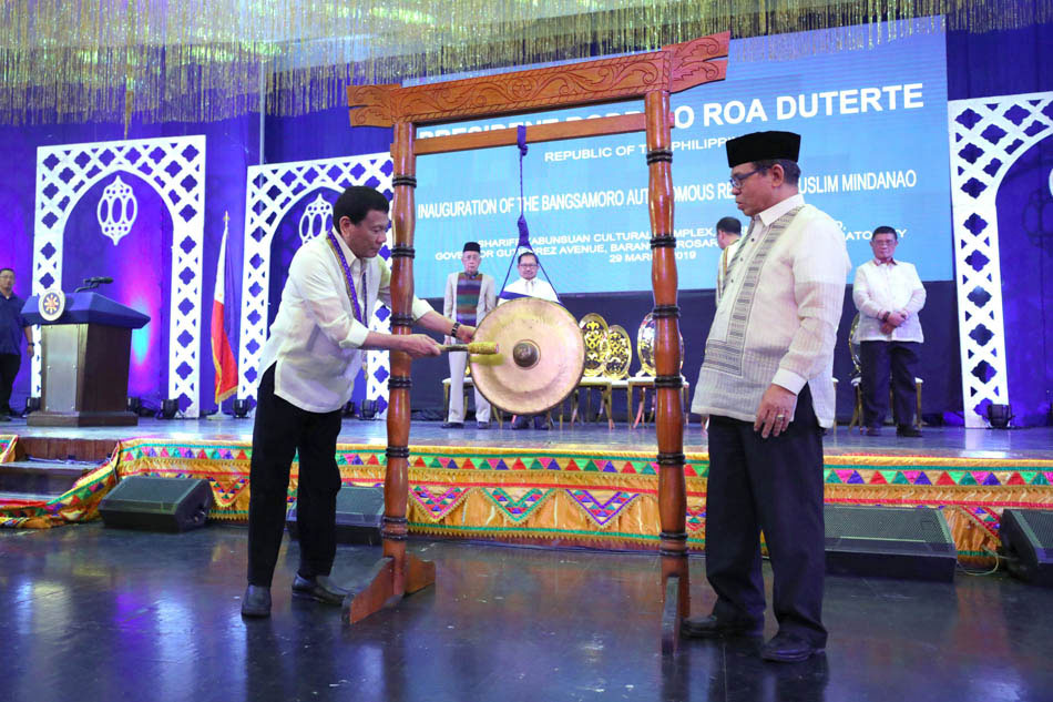 Duterte leads BARMM inauguration