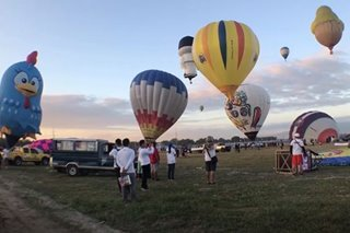 LOOK: Colorful hot air balloons soar in Lubao