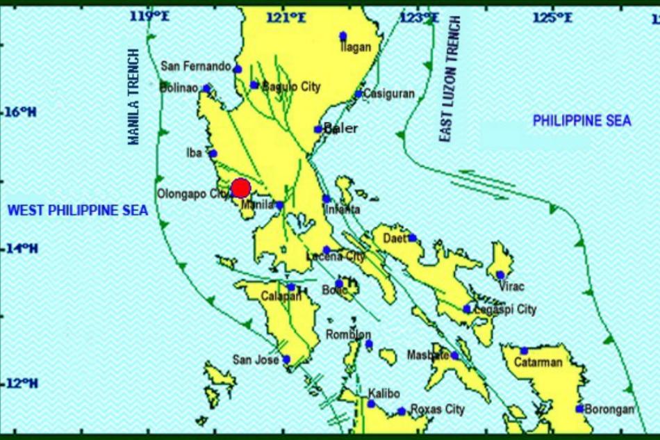 Magnitude 4.5 aftershock jolts Zambales, felt in Metro Manila
